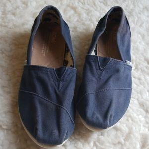 TOMS Blue Flats Sz 8